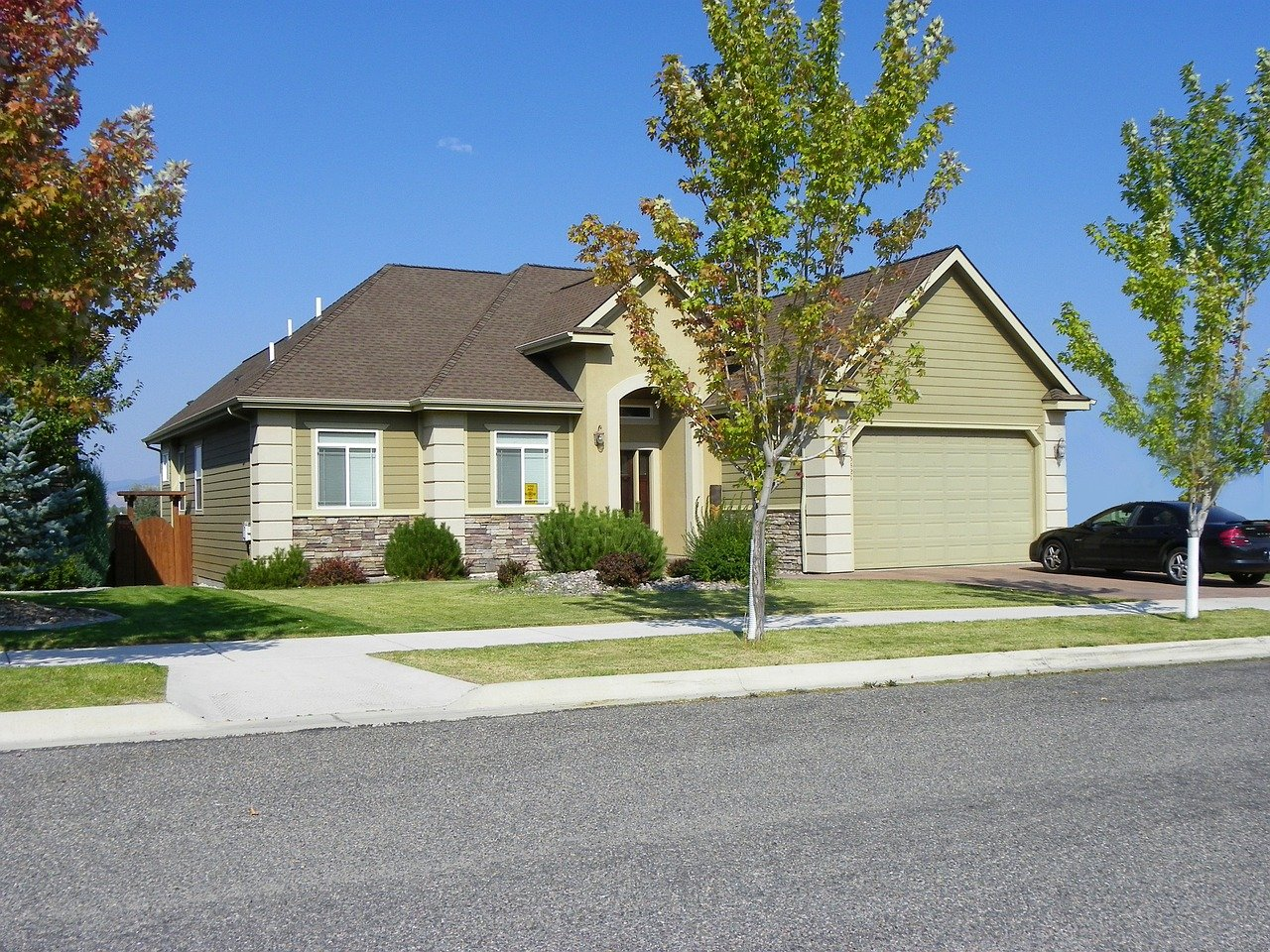 double car garage, double, property